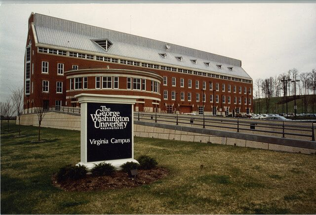 Exploration Hall on The George Washington University's Virginia Science and Technology campus. Circa 1992.