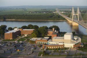 RiverCampus aerial with Riv Campus Center