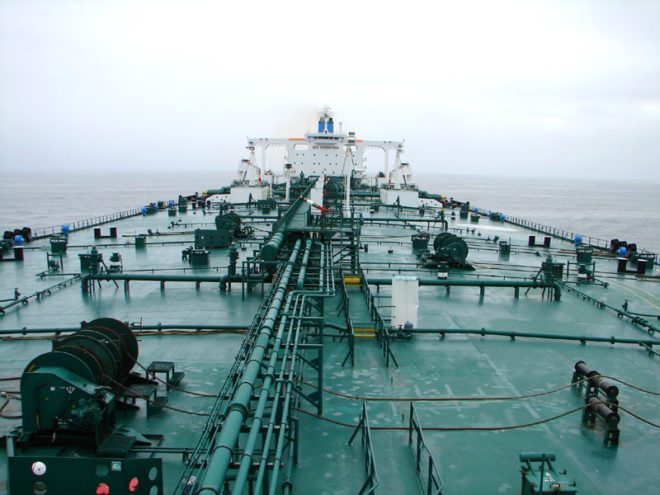 Oil tanker deck