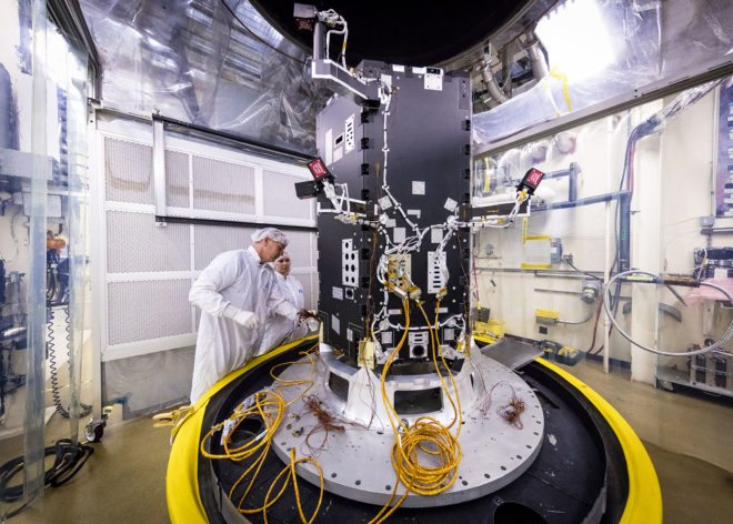 Preparation of the developing Solar Probe Plus spacecraft for thermal vacuum tests