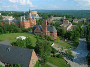 Cornell University Ho Plaza and Sage Hall