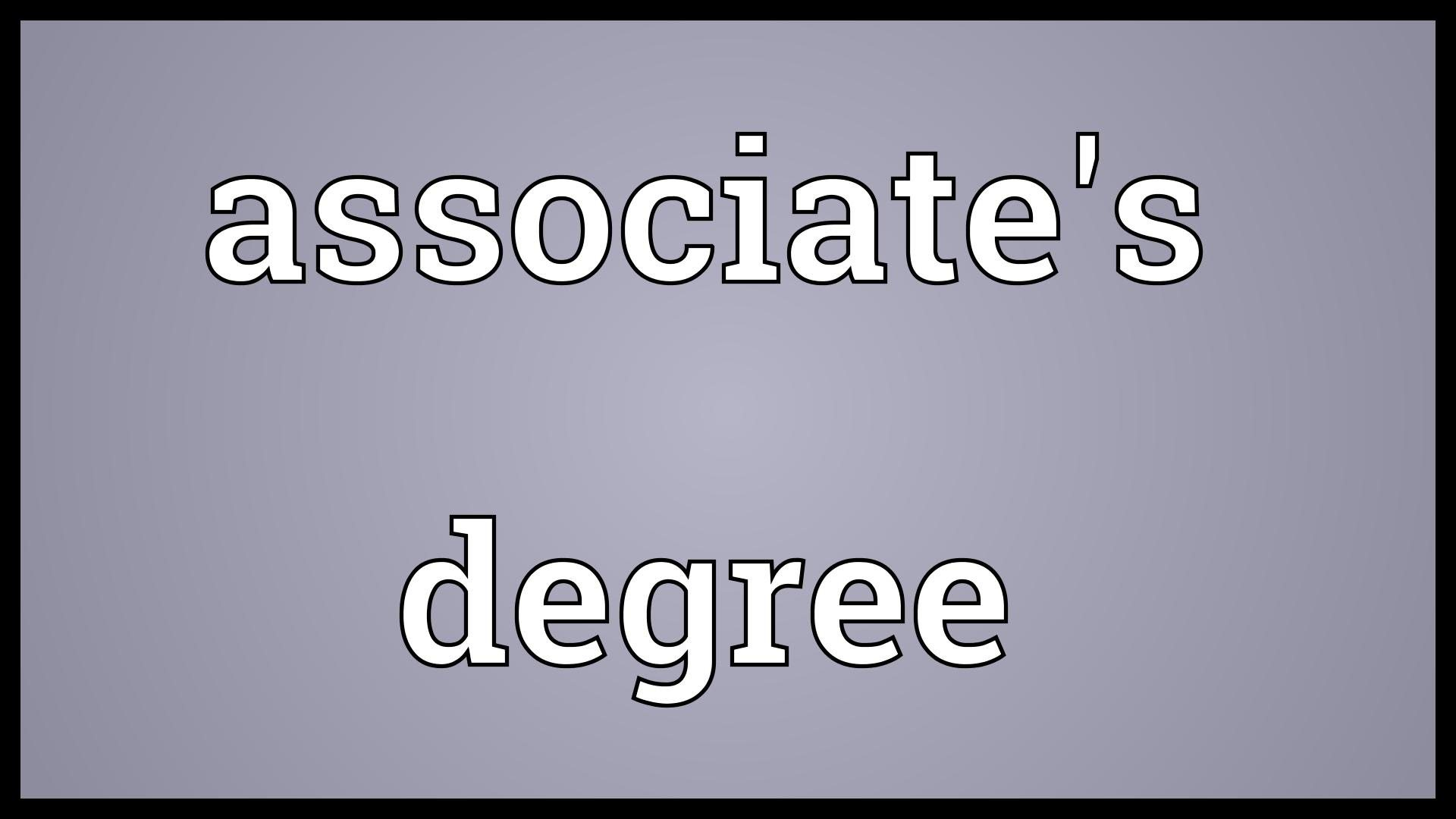 associates deegree u tube