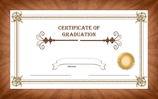 certificte of grad