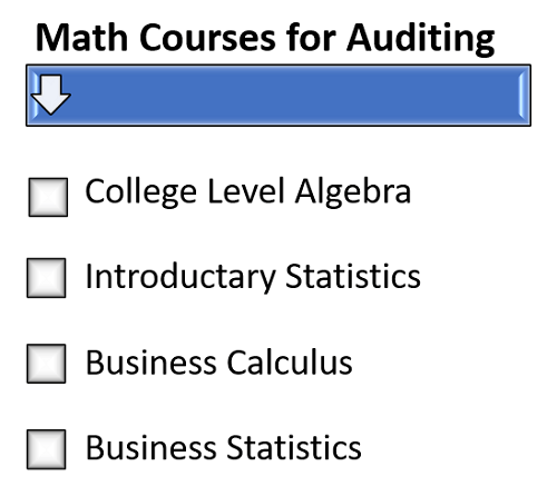 Math Courses for an Auditing Degree