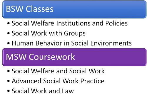 BSW vs. MSW Coursework