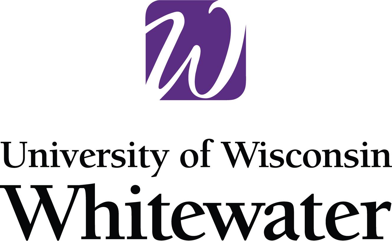 UW Whitewater logo 2c lead vertical